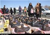 رونق بازار دستفروشان نوروزی - اراک
