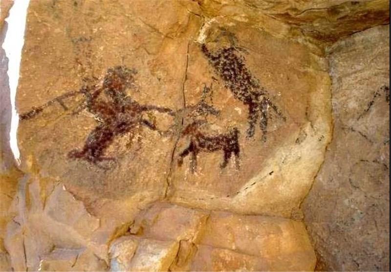 لرستان| ردپای انسانهای نخستین در اثری 149 هزار ساله؛ نقاشی که گردشگران را حیرتزده کرد+تصاویر