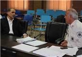 بازدید معاون مدیریت حوادث کشور از مراکز اورژانسی اراک