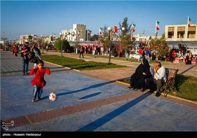 مسافران نوروزی در بوشهر