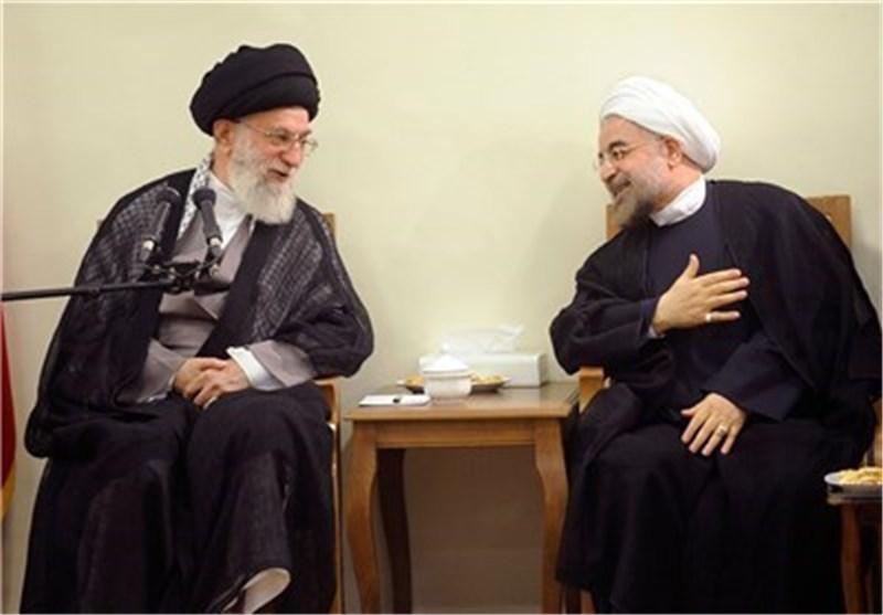 روحانی والقائد الخامنئی