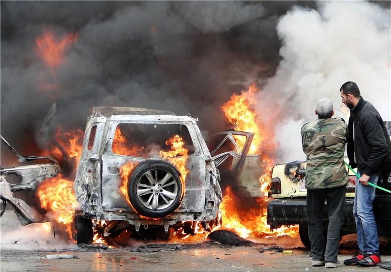 انفجار سیارة مفخخة فی منطقة مزة جبل بمدینة دمشق و وقوع إصابات + صور