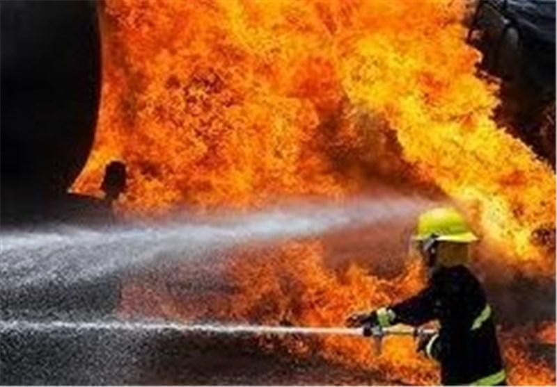 آتش سوزی لنج