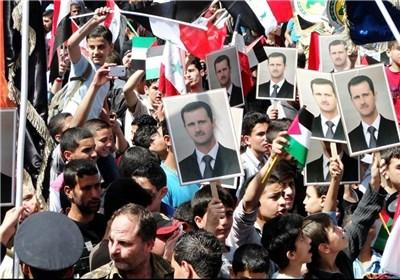 مسیرات تأئید للجیش السوری ودعم للرئیس الأسد