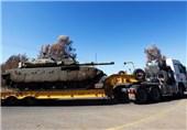 واژگون شدن کامیون حامل تانک رژیم صهیونیستی در میدان مین