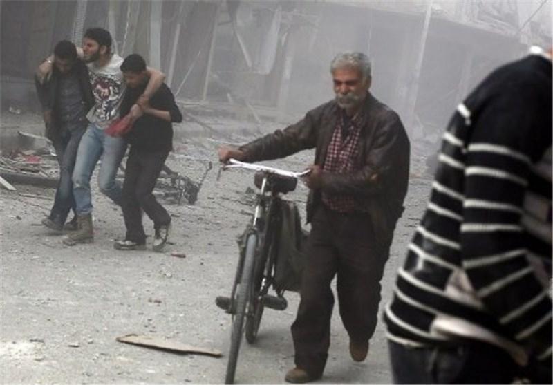 مقتل واصابة العشرات معظمهم من الأطفال جراء سقوط قذائف هاون على مدارس فی دمشق