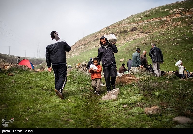 Varf Chal Traditional Ceremony in Ab-e Ask Village, Amol, Iran