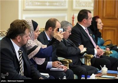 لاریجانی یستقبل رئیس مجموعة الصداقة البرلمانیة الرومانیة
