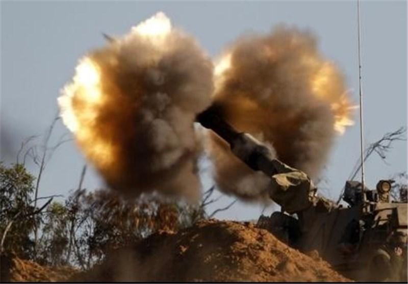 حمایت توپخانه ای اسرائیل از گروههای مسلح در سوریه