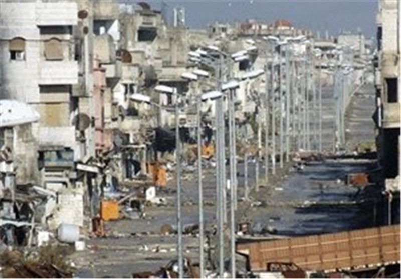 تصاویری از ورود ارتش سوریه به «حمص»
