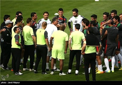 Iranian Football Team's Training Session
