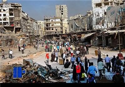 بازگشت هزاران نفر از آوارگان حمص به خانههای ویرانه خود - سوریه