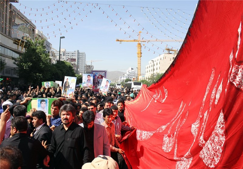 مردم شهیدپرور سمنان از پیکر مطهر شهید محمدی استقبال کردند