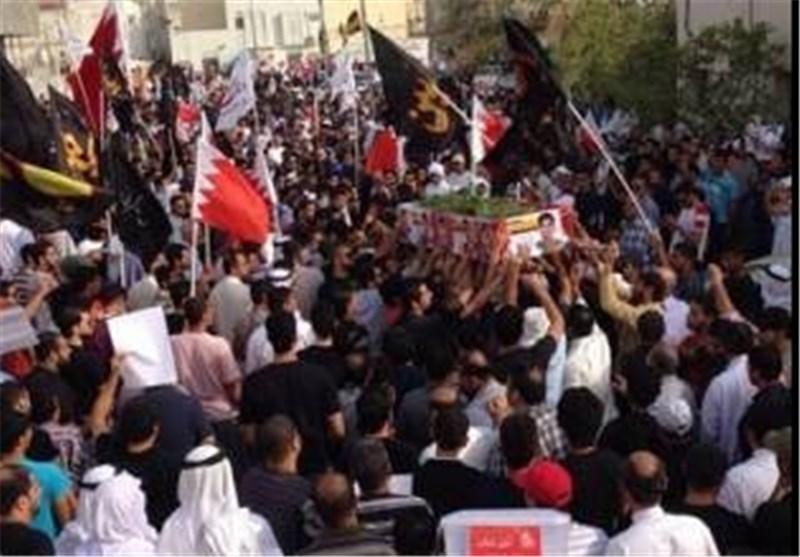 تشییع جثمان الشهید البحرینی السید محمود وسط حصار أمنی