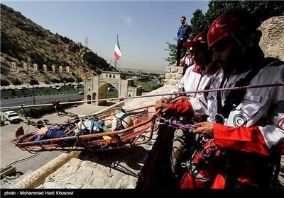 مناورة الامداد و الاغاثة بالمناطق الجبلیة فی شیراز