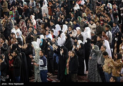 Iranians Gather in Imam Reza Shrine for New Year