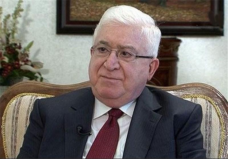 فؤاد معصوم و العبادی پیروزی برهم صالح را تبریک گفتند