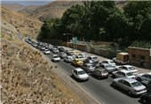 ترافیک سنگین در محورهای مواصلاتی استان اصفهان