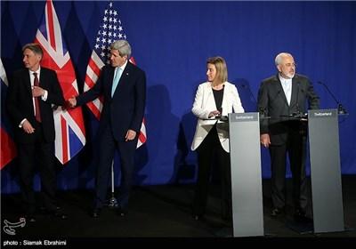 Iran's Zarif, EU's Mogherini Attend Joint Press Conference in Lausanne