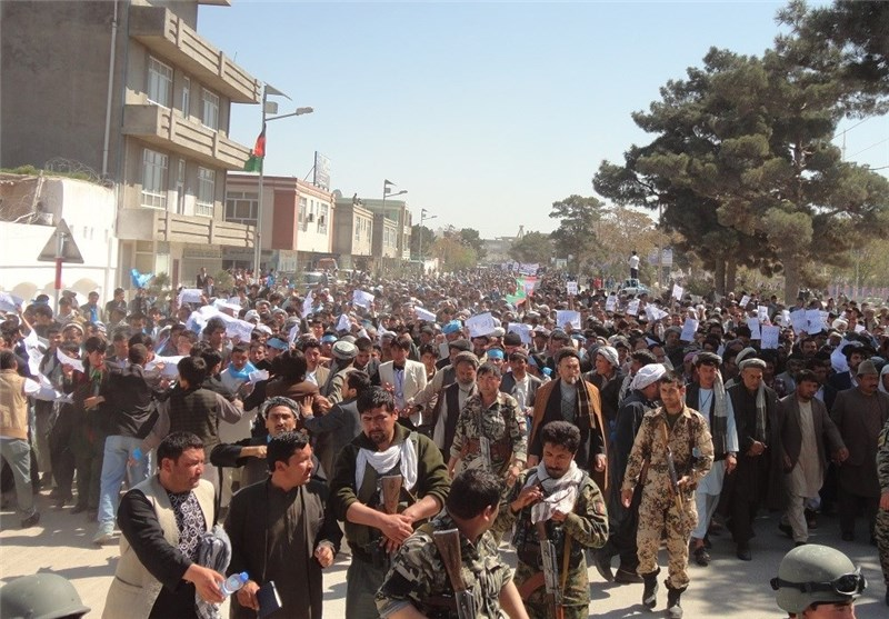 Afghans Rally against Kabul's Support for Saudi Attack on Yemen