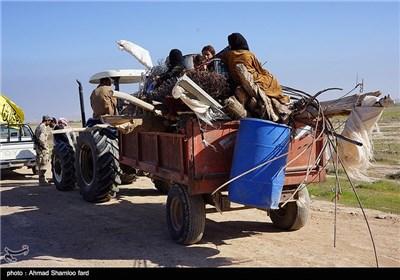 بازگشت زنان و کودکان به شهر و خانههایشان ، پس از فرار و رفع خطر گروه تروریستی داعش از شهر صلاح الدین عراق