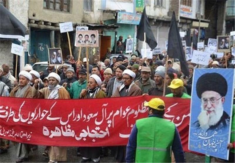 تظاهرات مردم هند علیه حملات عربستان در یمن به روایت تصویر