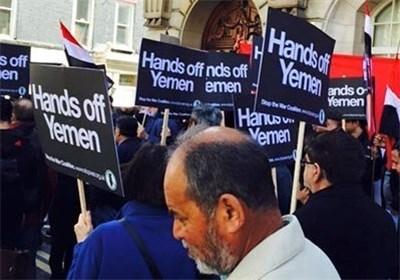 Protesters in London Condemn Saudi-Led Attacks on Yemen