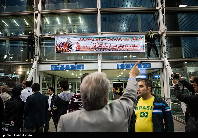 Iran's Free-Style Wrestling Team Returns from World Cup