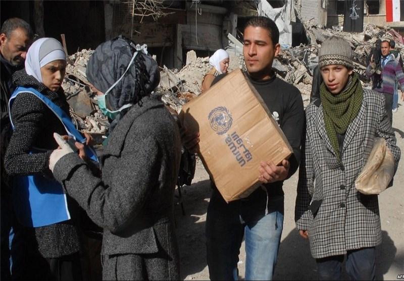الحکومة السوریة توزع المساعدات على أهالی البلدت المحاصرة بریف العاصمة