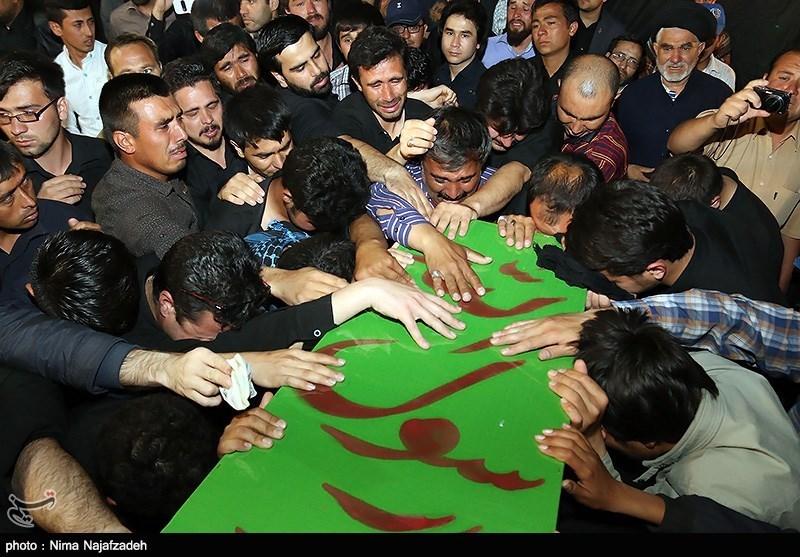 تشییع پیکر شهدای حرم - مشهد
