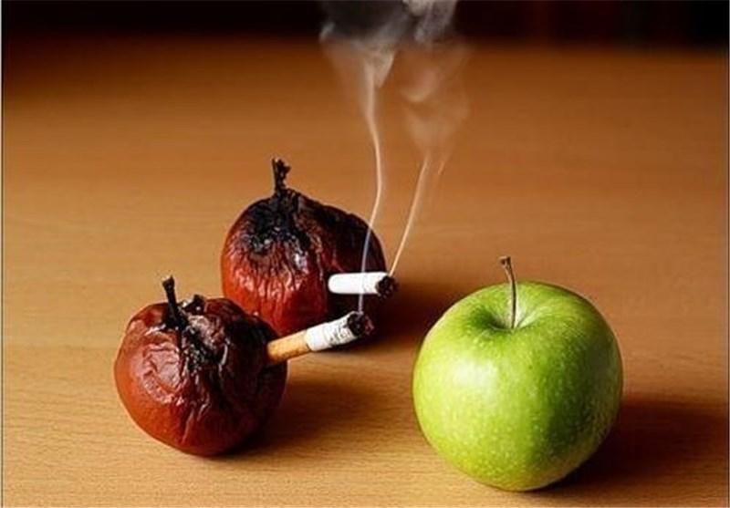 رابطه جالب سیب و سیگار!