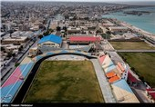 خلیج فارس از فراز بوشهر