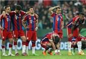 واکنش بازیکنان بایرن مونیخ به ناکامیشان در جام حذفی آلمان