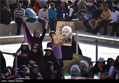 President Rouhani Visits Southwestern Iranian City of Shiraz