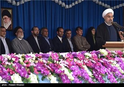 سخنرانی رئیس جمهور درحرم شاه چراغ (ع) - شیراز