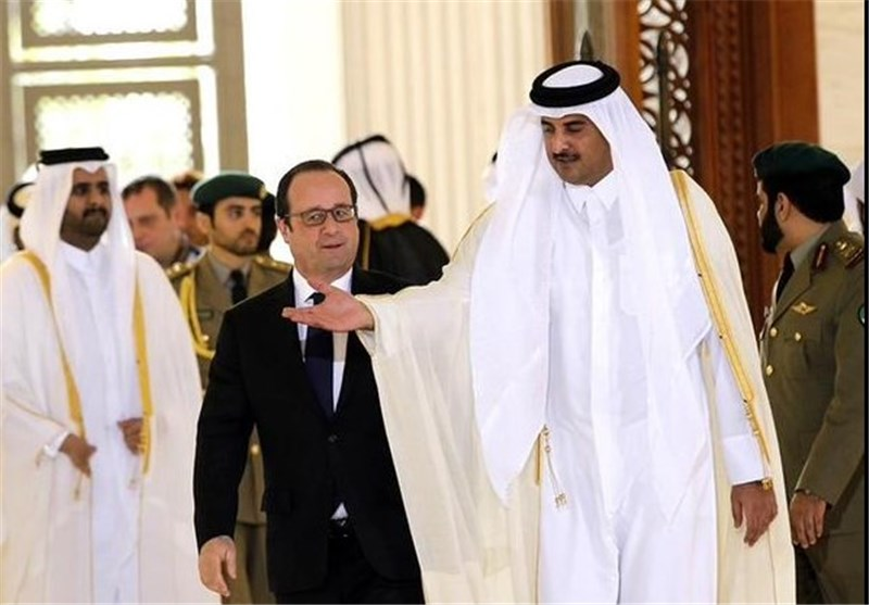 امیر قطر و اولاند