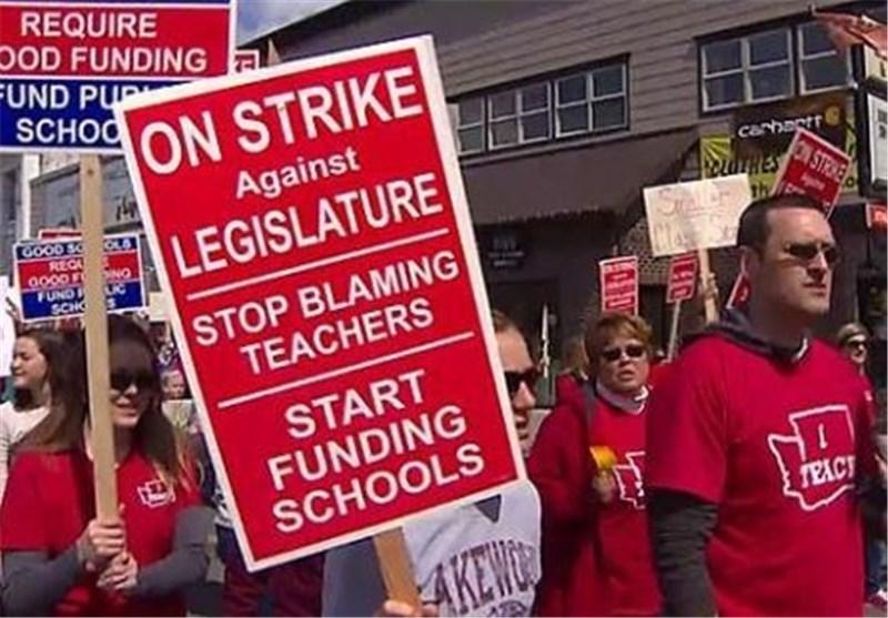 اعتصاب معلمان آمریکا