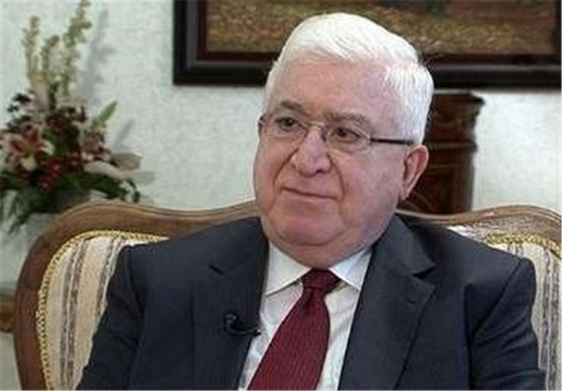 Iraqi President Hails Tehran's Support for Baghdad in Fight against ISIL