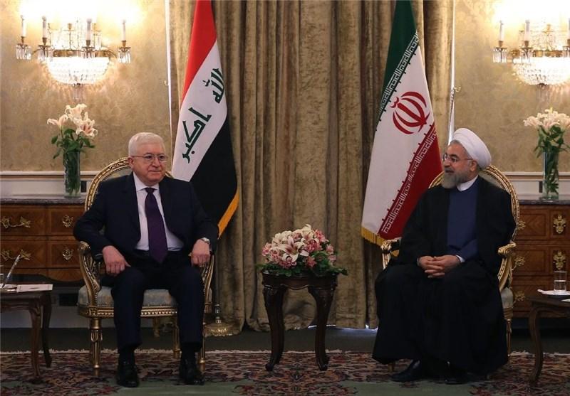 تاکید روسای جمهور ایران و عراق بر ضرورت توقف فوری حملات نظامی به یمن