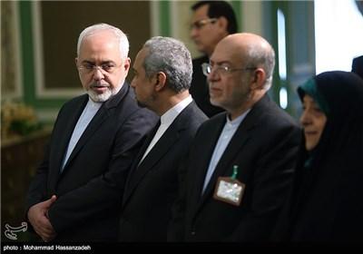 محمدجواد ظریف وزیر امور خارجه و محمد نهاوندیان رئیس دفتر رئیس جمهور