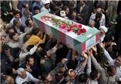پیکر مطهر 2 شهید گمنام دفاع مقدس در ساری تشییع شد