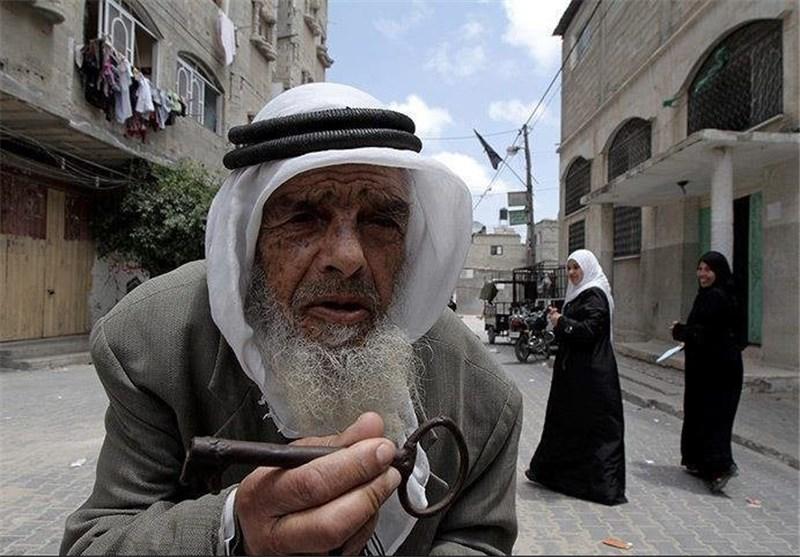 پیر مرد فلسطینی
