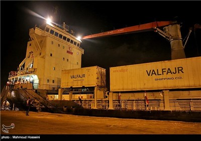 Photos: Iran's Yemen-Bound Aid Ship Docks in Djibouti
