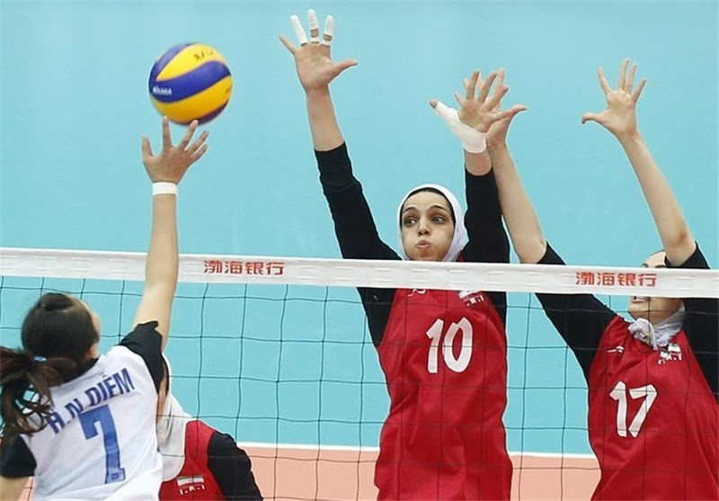 Iran Beaten by S. Korea in Asian Women's Volleyball Championships