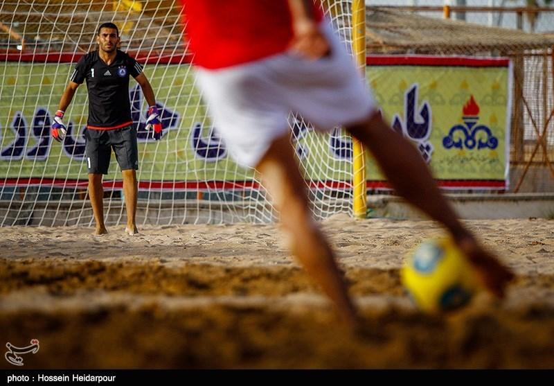 دیدار تیمهای فوتبال ساحلی دریانوردان بوشهر و شهرداری تبریز