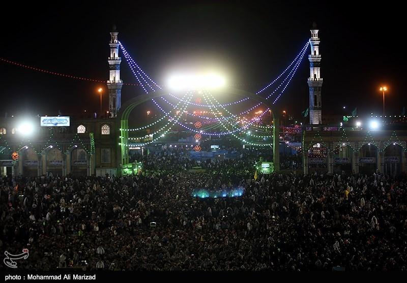 شب نیمه شعبان در مسجد جمکران