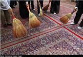 آیین غبارروبی مساجد مشهد مقدس