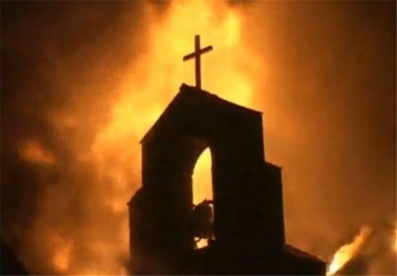 متطرفون یهود یشعلون النار فی کنیسة (الخبز والسمک) الأثریة على ضفاف بحیرة طبریا
