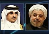 تاکید روحانی و امیر قطر بر توقف فوری حملات علیه فلسطین/ سازمان همکاریهای اسلامی فعالتر شود