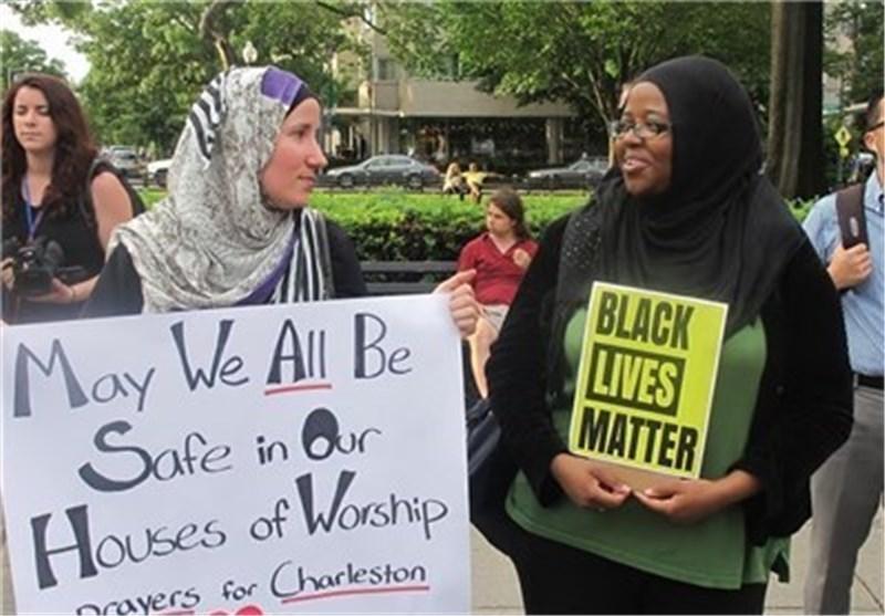 تجمع صامت احتجاجا على اعمال العنف المتواصلة ضد السود فی امریکا + صور